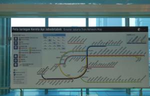ジャカルタ空港鉄道 スカルノハッタ国際空港 市内 路線図 ヤルネシアン