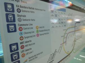 ジャカルタ空港鉄道 スカルノハッタ国際空港 スディルマン 路線図 ヤルネシアン