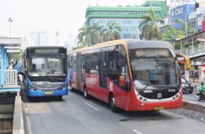 トランスジャカルタ バス 路線図 インドネシア